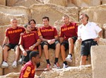 AS Roma at the Pyramids
